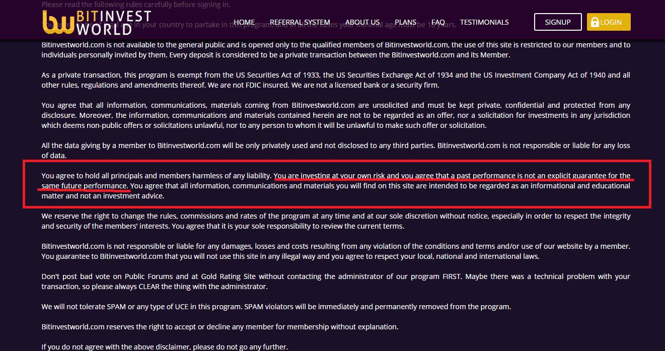 bitinvestworld review