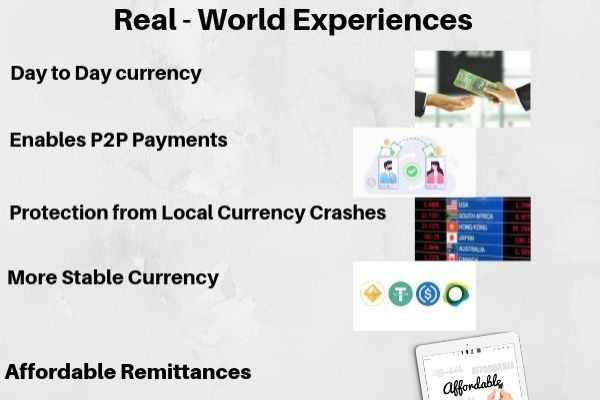Real life apllication of stablecoins
