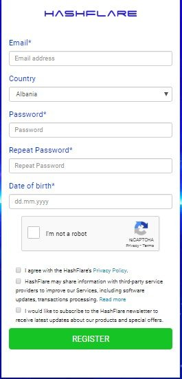Reg Page Hashflare