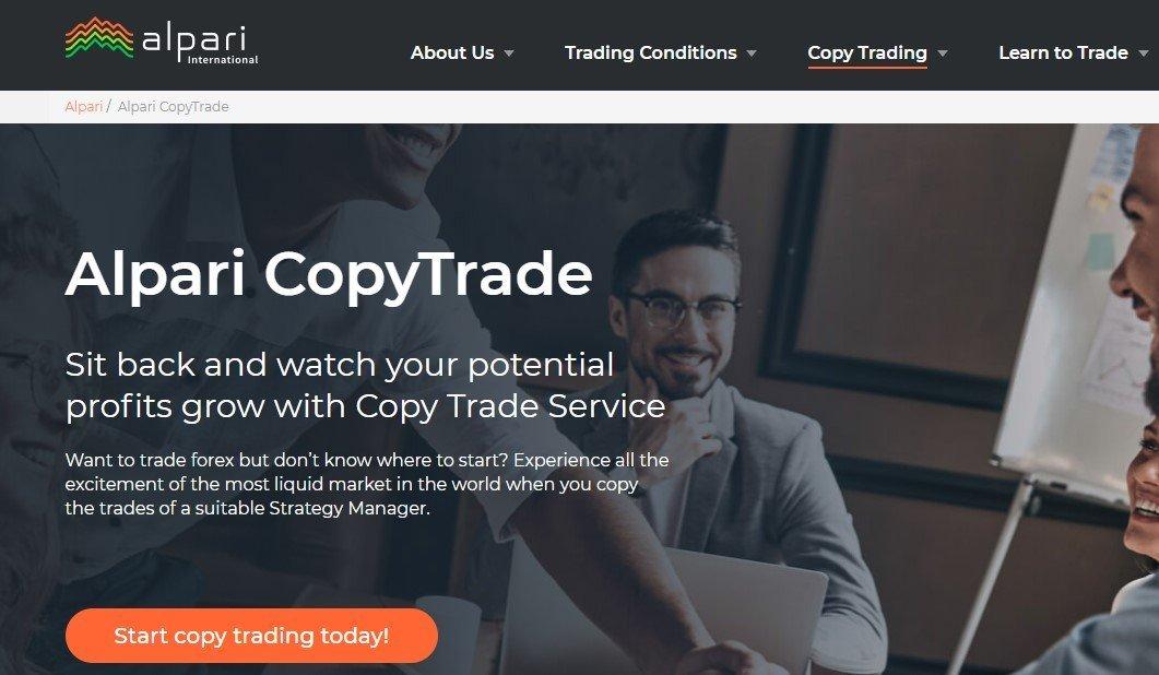 Alpari copy trader