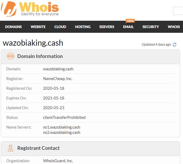 site registration date